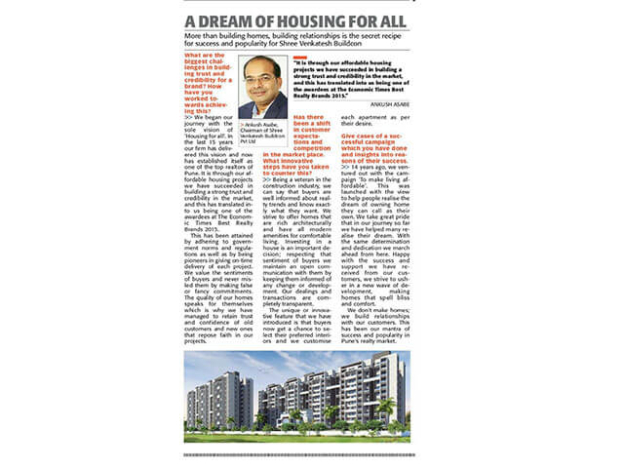 A Dream of Housing for all