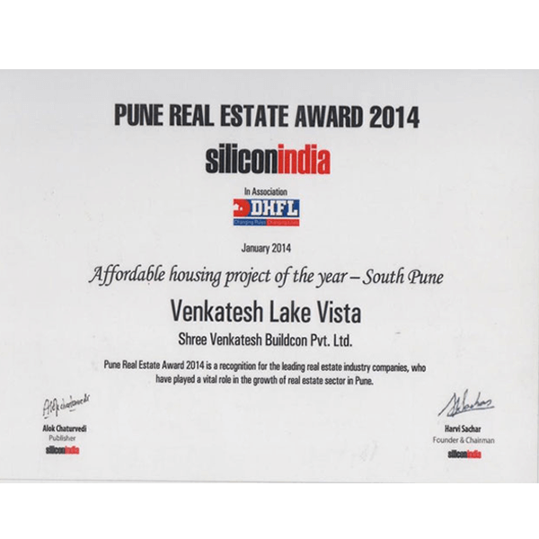 Pune Real Estate Award 2014
