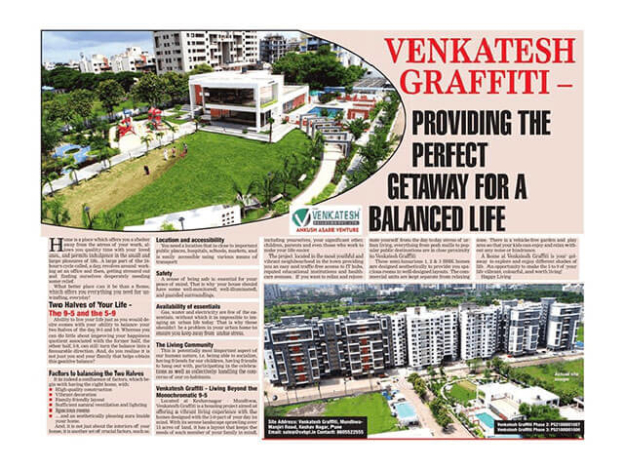 Venkatesh Graffiti – Providing the Perfect Gateway for a Balanced Life